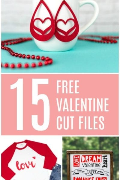 15 Free Valentine Cut Files for Silhouette or Cricut
