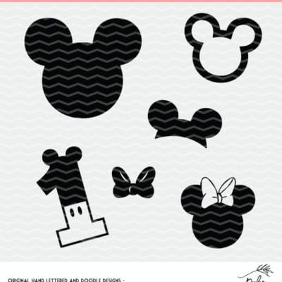 Disney Inspired cut files for Silhouette and Cricut cutting machines For personal use only.