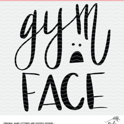 This site has TONS of free cut files. Gym Face cut file to make a funny gym shirt using a Silhouette or Cricut cut file.