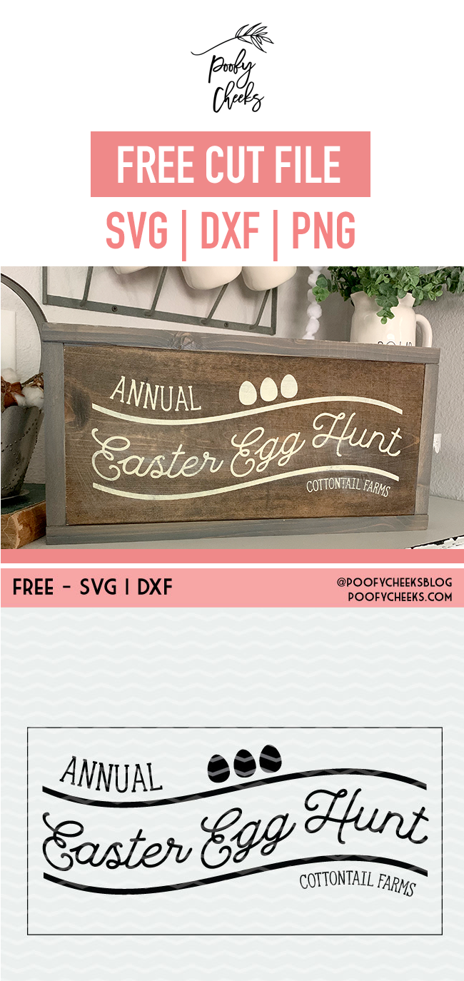 Painted Wood Sign - Tutorial on how to use adhesive vinyl stencils to paint wooden signs. Grab the Annual Easter Egg Hunt cut file for Silhouette and Cricut.
