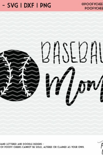 Baseball Mom Cut File – For Silhouette and Cricut – DXF, PNG, SVG
