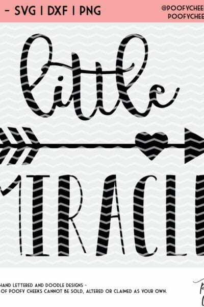 Little Miracle Cut File Free Silhouette And Cricut Design Svg Dxf Png