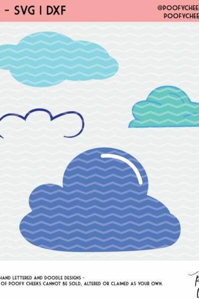 Cloud Cut File – Cricut and Silhouette Designs