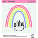 Rainbow baby cut file for use with Silhouette and Cricut. SVG, PNG and DXF file.