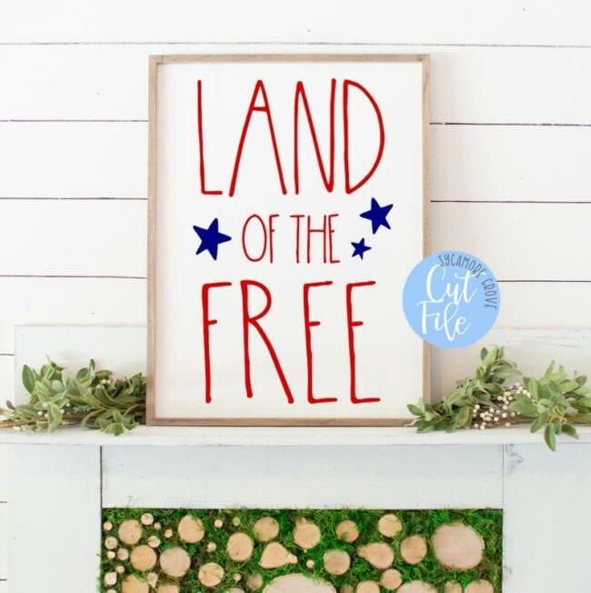 25 Patriotic Cut Files from around the web. Use with Cricut and/or Silhouette machines.