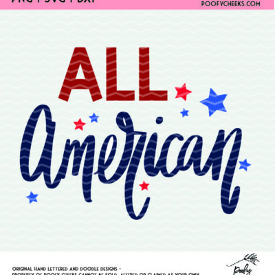 All American Patriotic Cut File for use with Silhouette and Cricut.