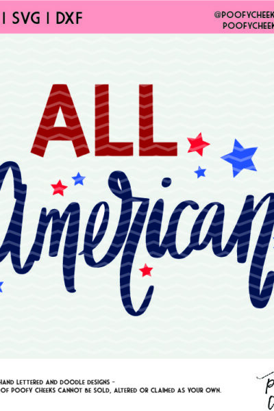 All American Patriotic Cut File for Silhouette Cameo and Cricut – Flash Freebie