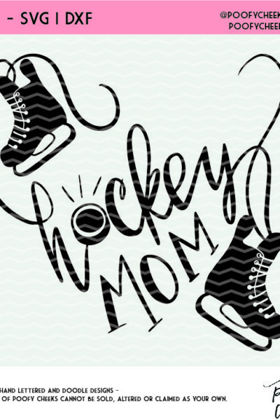 Hockey Mom Free Cut File – SVG, DXF, and PNG for Silhouette and Cricut