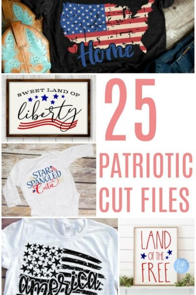 25 Patriotic Cut Files