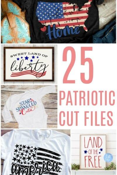 25 Patriotic Cut Files
