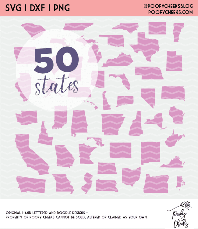 50 state cut file bundle