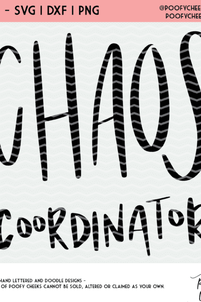 Chaos Coordinator Cut File – SVG, DXF and PNG