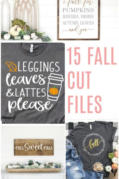 15 Fall Cut Files for Silhouette or Cricut