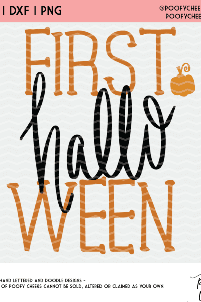 First Halloween Cut File for Baby – Silhouette Cameo and Cricut SVG, DXF, PNG
