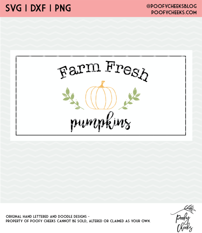 farm fresh pumpkin cut file