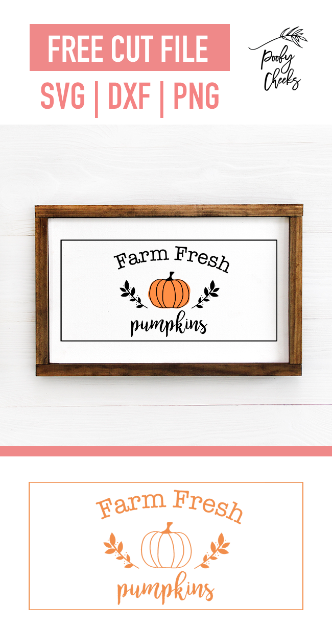 Farm Fresh Pumpkins Sign - Wooden Framed Sign