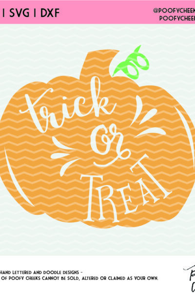 Trick or Treat Pumpkin Cut File – Halloween SVG, DXF and PNG