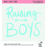 raising boys hand lettered cut file