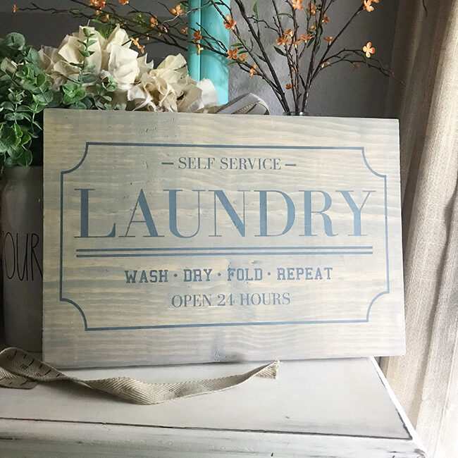 Laundry Sign Digital Design