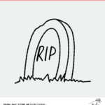 RIP Gravestone Digital Design cut file
