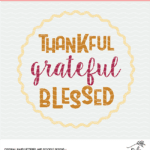 thankful grateful blessed digital design