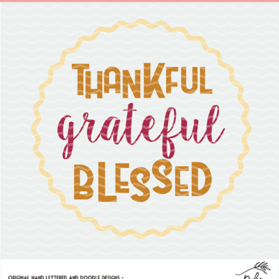 thankful grateful blessed digital design