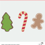 christmas cookie digital design