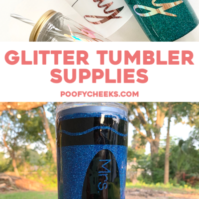 epoxy glitter tumblers