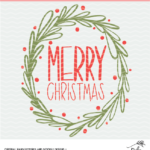 hand lettered merry Christmas digital design
