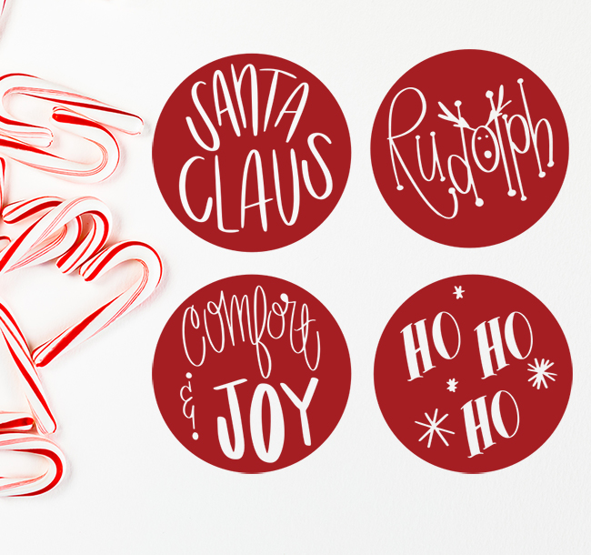christmas word cut files- digital designs