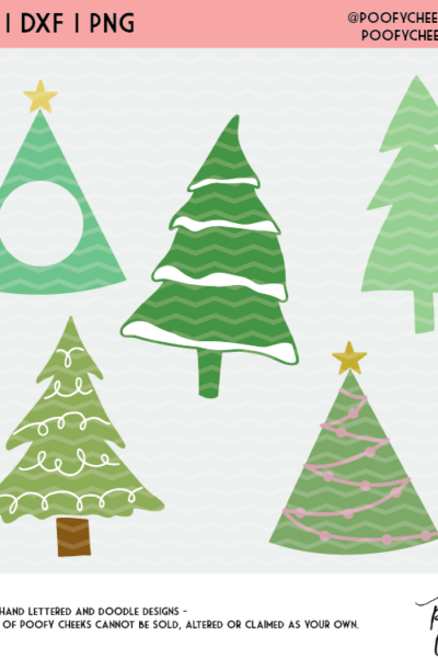 Christmas Tree Cut File Free Svg Dxf Png For Cricut And Silhouette