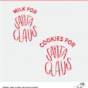 Milk and Cookies for Santa Cut File