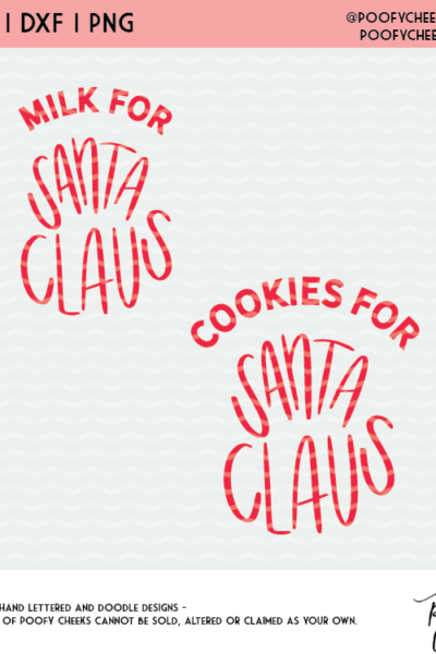 Cookies and Milk for Santa – Free SVG Cut File for Silhouette and Cricut