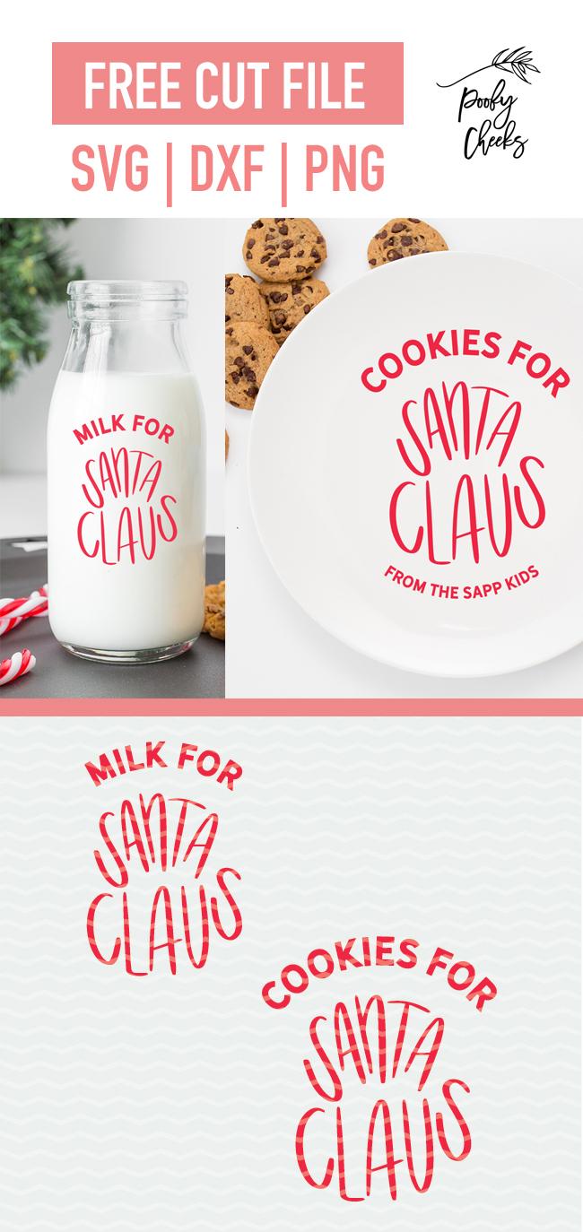 Milk and Cookies for Santa digital design
