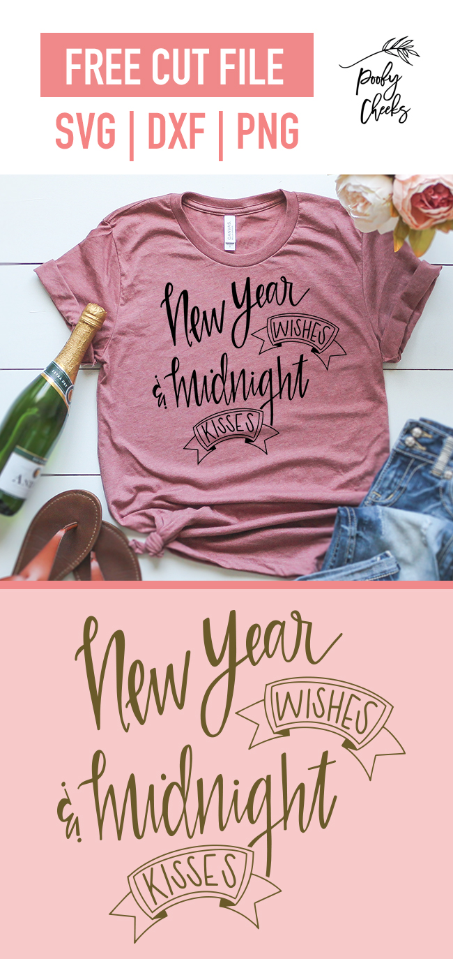 New Year Wishes and Midnight Kisses digital design