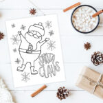 Christmas coloring printable