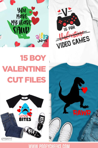 15 Boy Valentine Cut Files – Use with Cricut and Silhouette