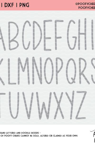 KeKe Alphabet Cut File – SVG, DXF, PNG