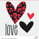 Love and Hearts Valentine's Digital Design
