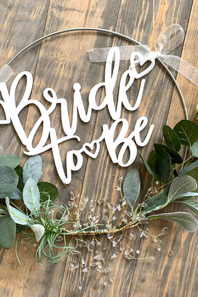 DIY Bridal Shower Hoop with Greenery – Decoration
