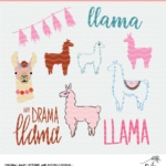 Free Llama Cut File Mini Bundle