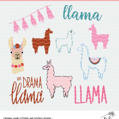 Free Llama Cut File Mini Bundle