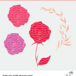 Flower Cut File - SVG, DXF and PNG Free digital designs.