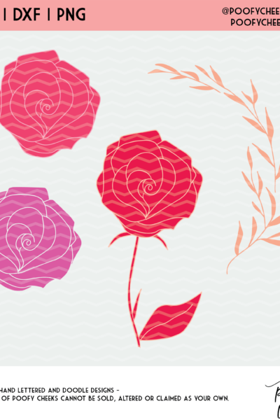 Flower Cut File – SVG, DXF and PNG for Silhouette and Cricut