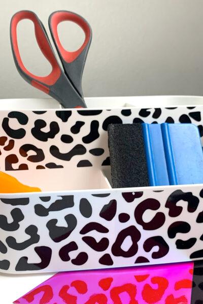 Leopard Print Craft Caddy