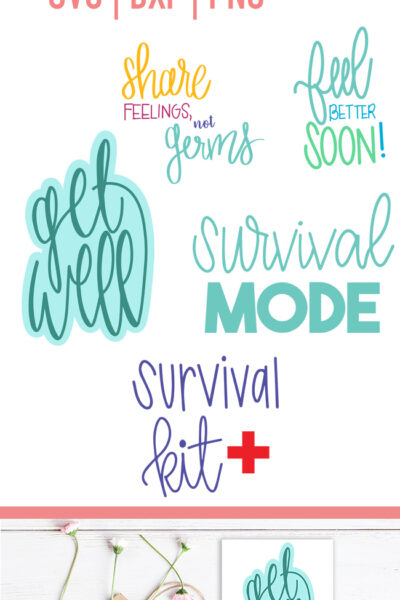 Get Well Cut File Bundle – SVG, DXF and PNG Files for Cricut and Silhouette