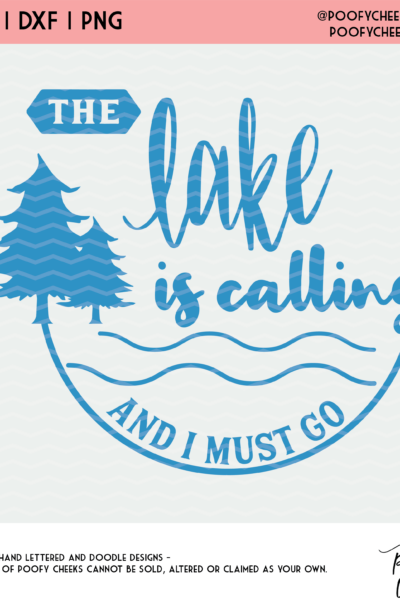 The Lake Cut File – The Lake is Calling SVG, DXF and PNG