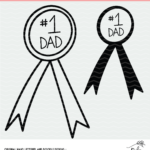 No. 1 Dad Award Cut File for Silhouette and Cricut