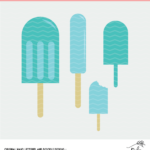 Popsicle Summer Birthday Cut File