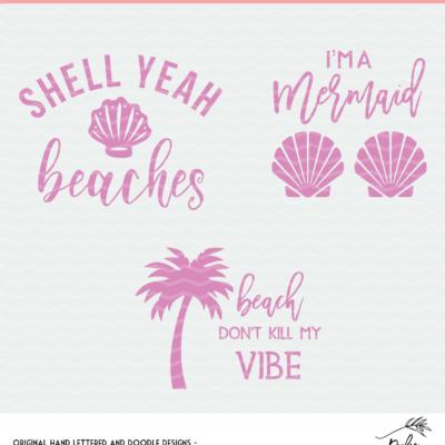 Beach Vibes Cut Files